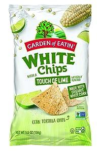 Garden of Eatin' Tortilla Chips, Lime, White Corn 5.5 oz (Pack of 12)