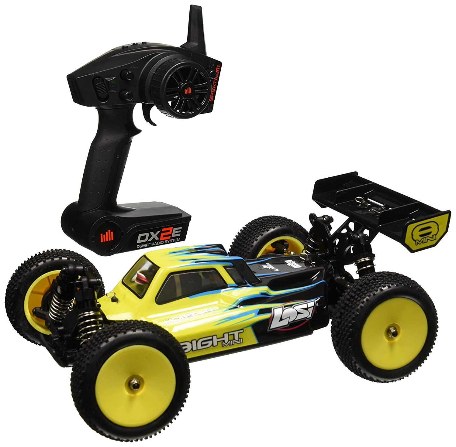 Amazon Team Losi Mini 8IGHT RTR AVC 4WD Buggy Vehicle 1 14 Scale Blue Toys & Games
