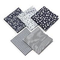 Tissus Coton 50 x 50cm Couture Quilting Fabric Patchwork Vêtements Sewing Artisanat - 5pcs