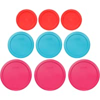 Pyrex (3) 7402-PC 6/7 Cup Fuchsia (3) 7201-PC 4 Cup Surf Blue (3) 7200-PC 2 Cup Red Replacement Food Storage Lids