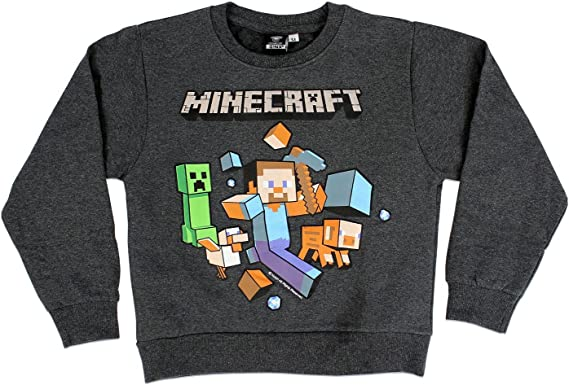 Maglietta a Manica Lunga Ragazzi Minecraft