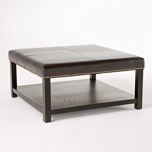 Christopher Knight Home Julia Bench with Rack, Brown