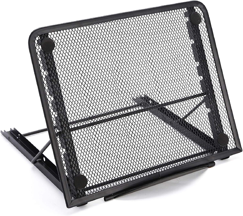 Soffiya Adjustable Laptop Stand, Ventilated Mesh Desk Laptop Tablet Stand Holder for Home / Office Notebook Stand, 6 Angles Adjustable