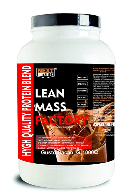 Proteína Aumento de la masa muscular | Gainer, lanzamiento lento | LEAN MASS FACTORY Gr
