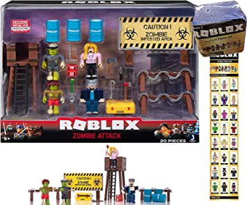 Roblox Figures Zombie Attack Roblox Set Game Toy Pack Kids Gift
