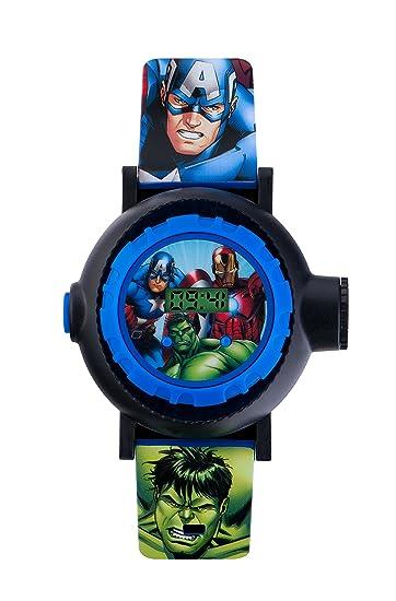 Avengers AVG3536 - Reloj Digital para niños, Digital, con Esfera Correa Azul de PU: Amazon.es: Relojes