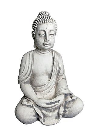 Wunderschöner, riesiger Stein Buddha - Figur Feng Shui aus Steinguss ...