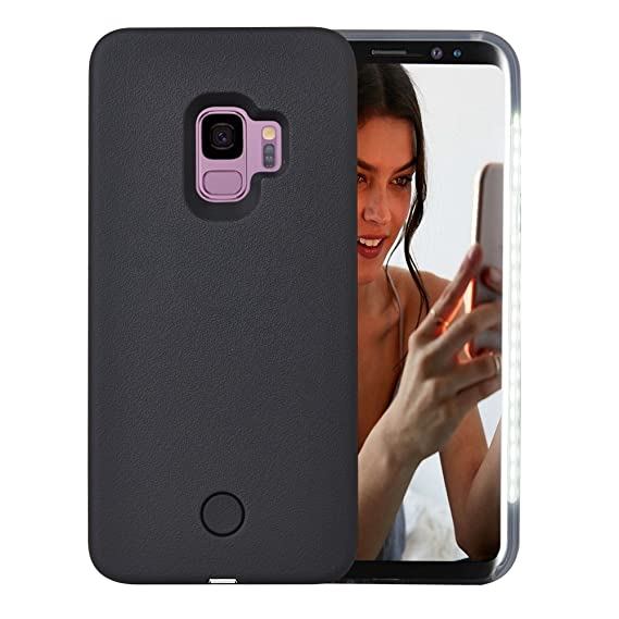 size 40 f0d77 1fa1b Galaxy S9 Case, AUYOUWEI LED Illuminated Selfie Light Case Cover  [Rechargeable] Light Up Luminous Selfie Flashlight Cell Phone Case for  Samsung S9 ...