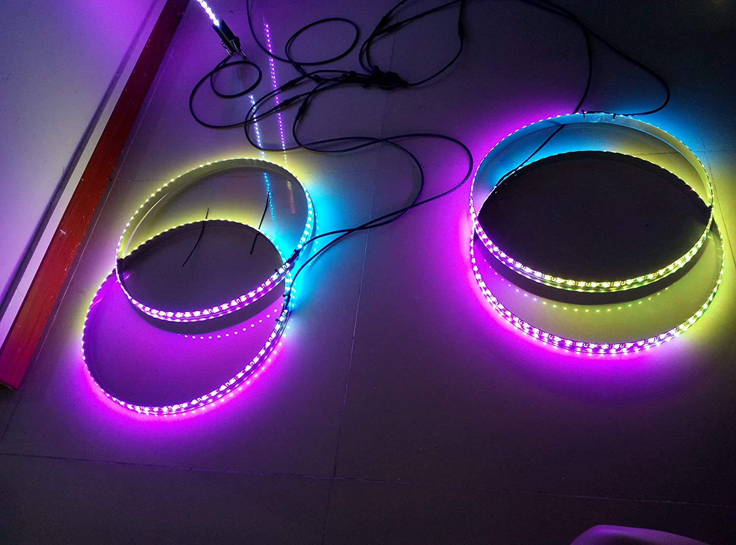 Sando Dream Chasing Color LED Wheel Ring Lights Tire Lights Remote Controlled IP68 Waterproof 4 Lights