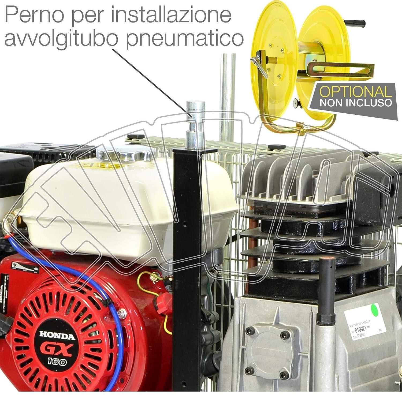 motocompressore 5,5 HP 10 Lt Motor Honda GX160 Gasolina Compresor Aire ruedas: Amazon.es: Bricolaje y herramientas