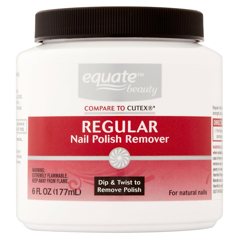 Equate Regular Nail Polish Remover, 6 oz Tub with Sponge (Compare to Cutex)