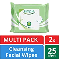 Simple Facial Wipes, Cleansing, 25 count, Twin Pack