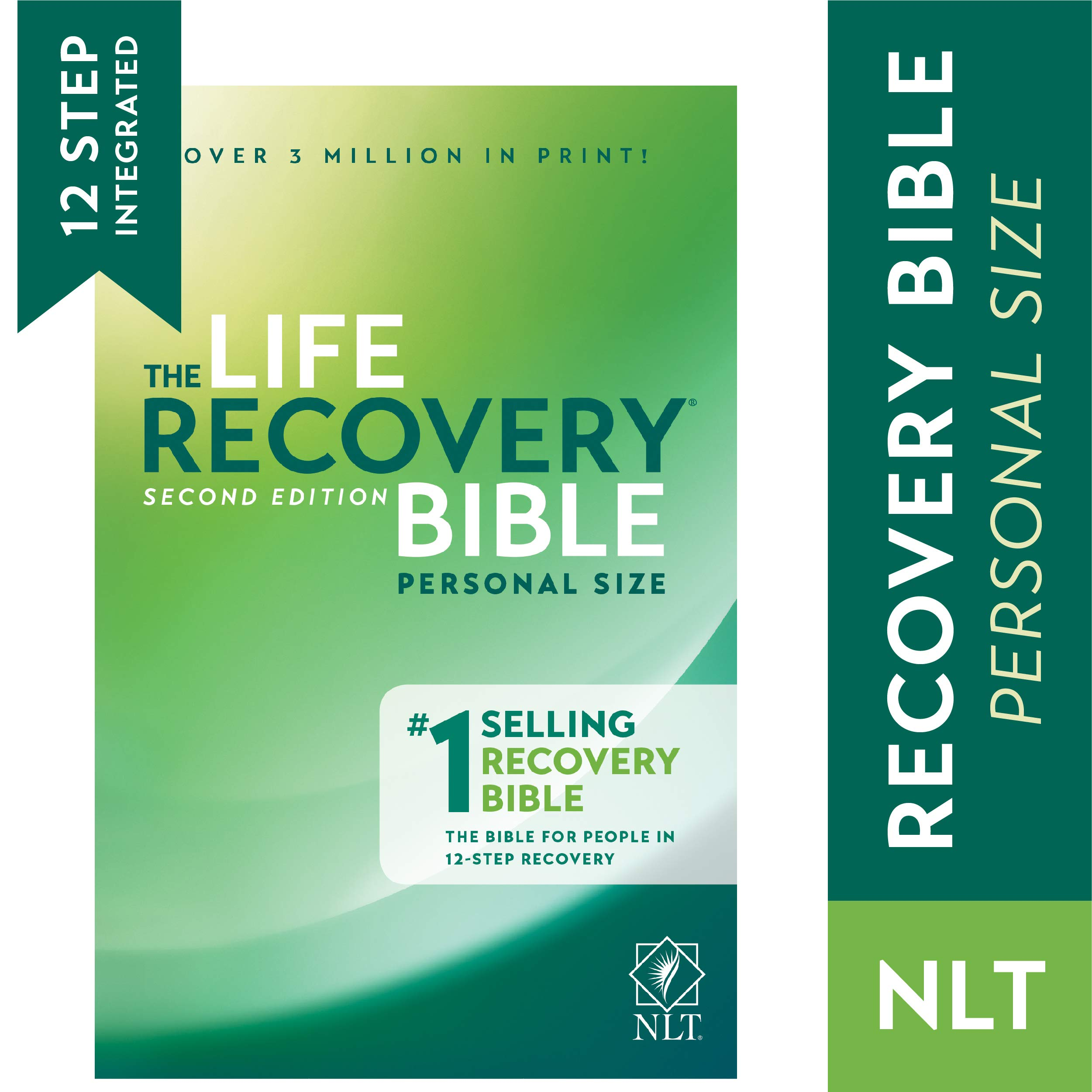 Tyndale NLT Life Recovery Bible (Personal Size, Softcover) 2nd Edition – Addiction Bible Tied to 12 Steps of Recovery…