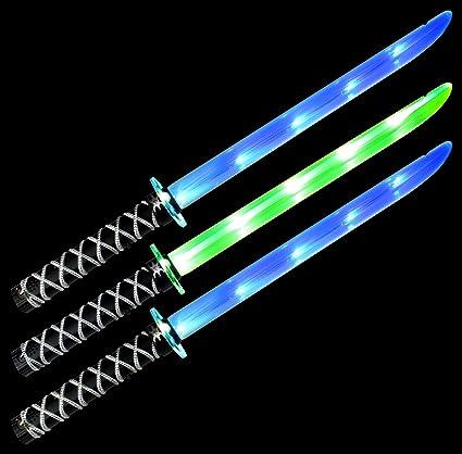 Amazon.com: Conjunto de 3 de VT Ninja Samurai Katana LED ...