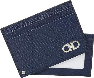 Amazon.com  Salvatore Ferragamo Men s Revival Gancio Sliding Card Case  Fjord Blue One Size  Shoes 3ccce6e9ea282