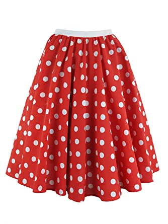 6d714d660c65a Ladies Polka Dot Rock and Roll 50 s 60 s Style Skirt   Scarf (14 (30 inch  Waist)