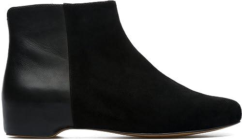 CAMPER 8431319105100 - Botas de Piel Lisa para Mujer Negro Negro 36 EU, Color Negro