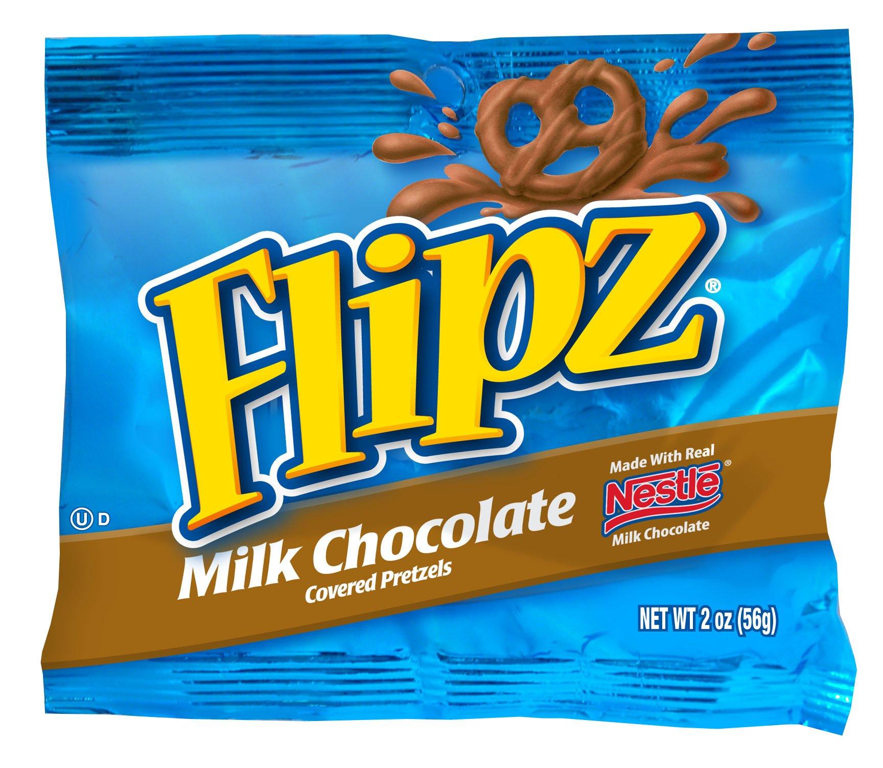 Flipz Milk Chocolate Pretzel, 2-Ounce. Bags (Pack of 24)