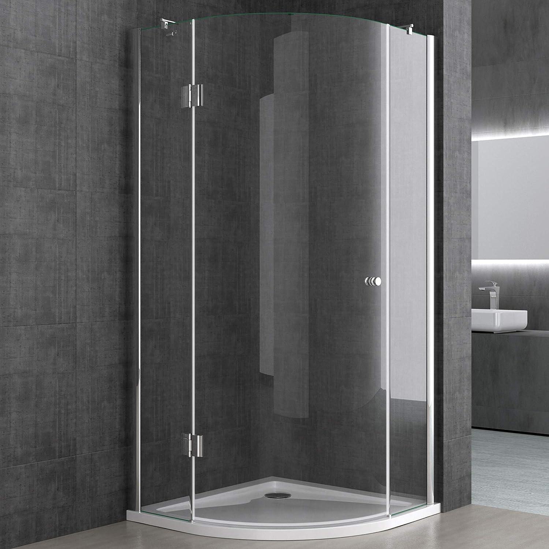 Sogood Cabina de ducha de cuarto de círculo Rav06K 100x100x190cm ...