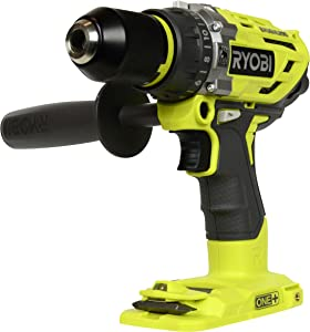 Ryobi P251 One+ 18V Lithium Ion 750 Inch Pound Brushless Hammer Drill Driver w/ 3 Drilling Modes, 24 Position Clutch, and Ergonomic Handle