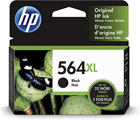 NO RETAIL BOX 2-PACK HP GENUINE 564XL Black Ink PHOTOSMART C6340 C6350 C6380
