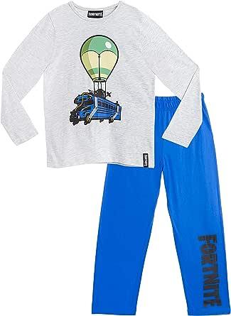 Fortnite Pijama Niño, Pijamas Niños con Diseño Battle Bus, Conjunto Niño Verano, Ropa Niño para Dormir, Regalos para Niños y Adolescentes Edad 7-14 ...