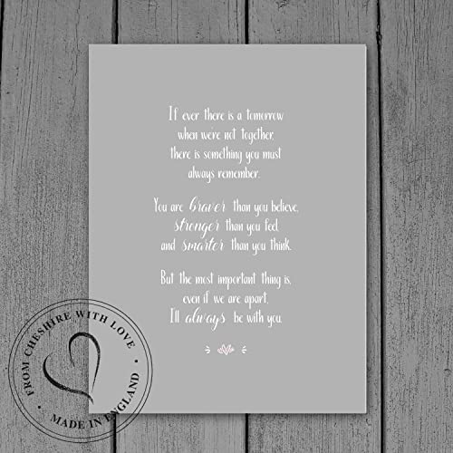 Winnie The Pooh Quote Print If Ever There Is A Tomorrow When Were
