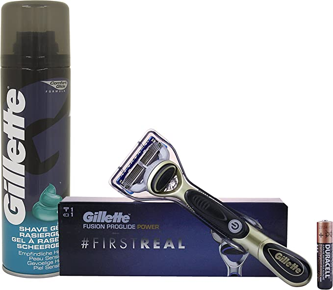 Gillette Fusion ProGlide Power afeitadora a pilas, pack: 2 x 1er: Amazon.es: Belleza