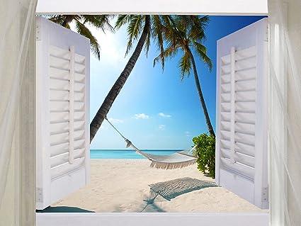 """Diseño de casetas de playa lienzo de acuarela de Art 20 """"x30"""" enmarcado"""