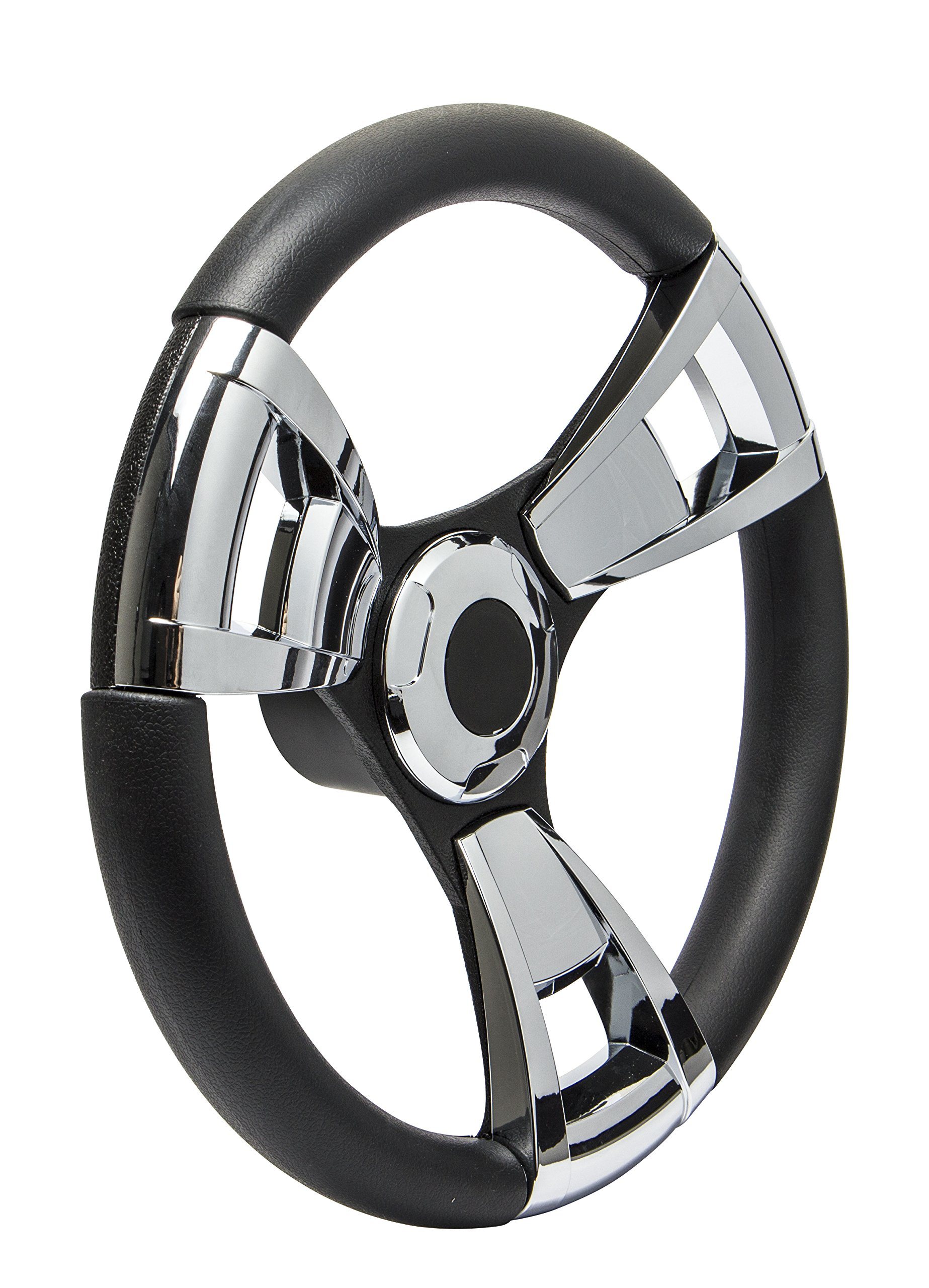 SeaStar Armada SW60105P Steering Wheel, Armada 13-1/2 inch, Chrome Inserts, 3 Spoke Equidistant by Dometic SeaStar
