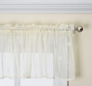 """product image for Heritage Lace Bee Valance, 45"""" by 15"""", Ecru"""