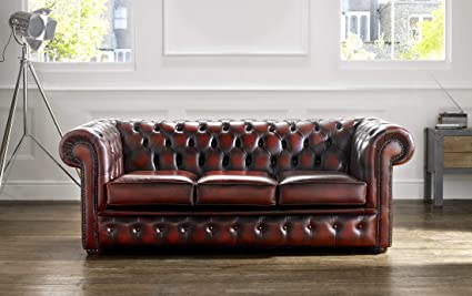 Magnificent Chesterfield 3 Seater Antique Oxblood Leather Sofa Offer Spiritservingveterans Wood Chair Design Ideas Spiritservingveteransorg