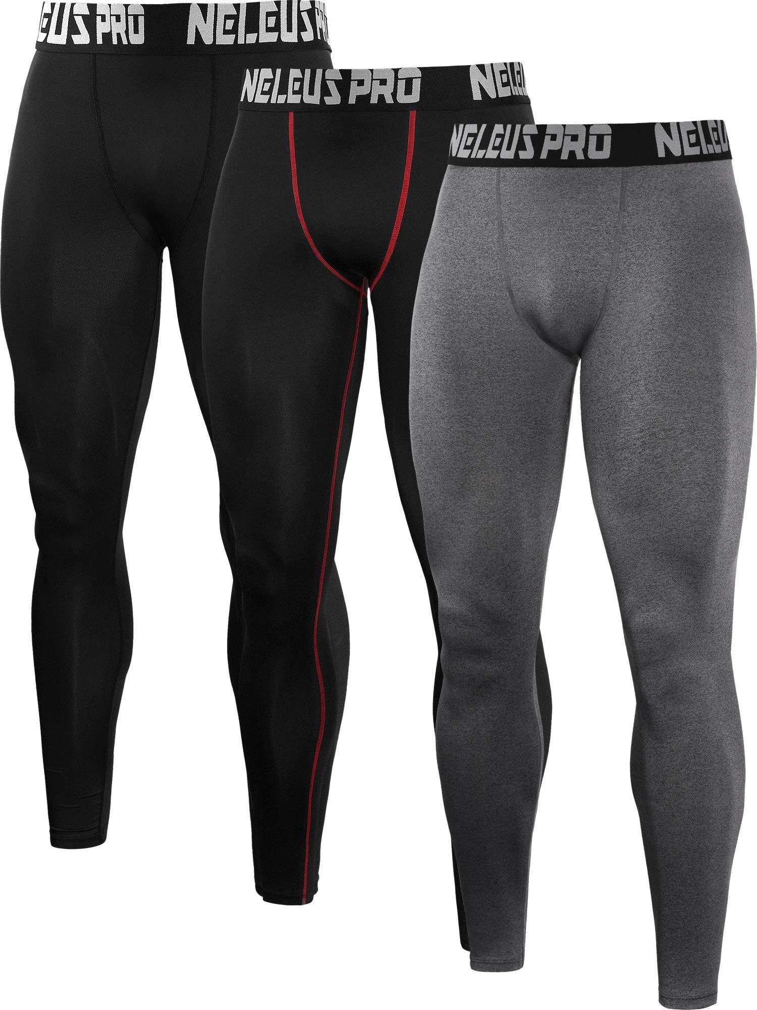 af377d01 Neleus Men's 2 Pack Compression Tights Sport Running Leggings Pants product  image