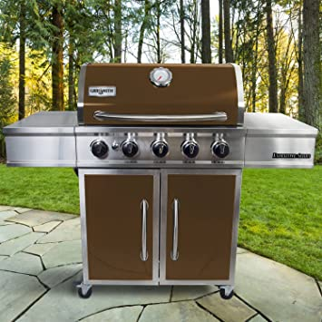 grillsmith Executive Series 5-burner Premium gas grill, barbacoa parrilla de barbacoa, hermoso