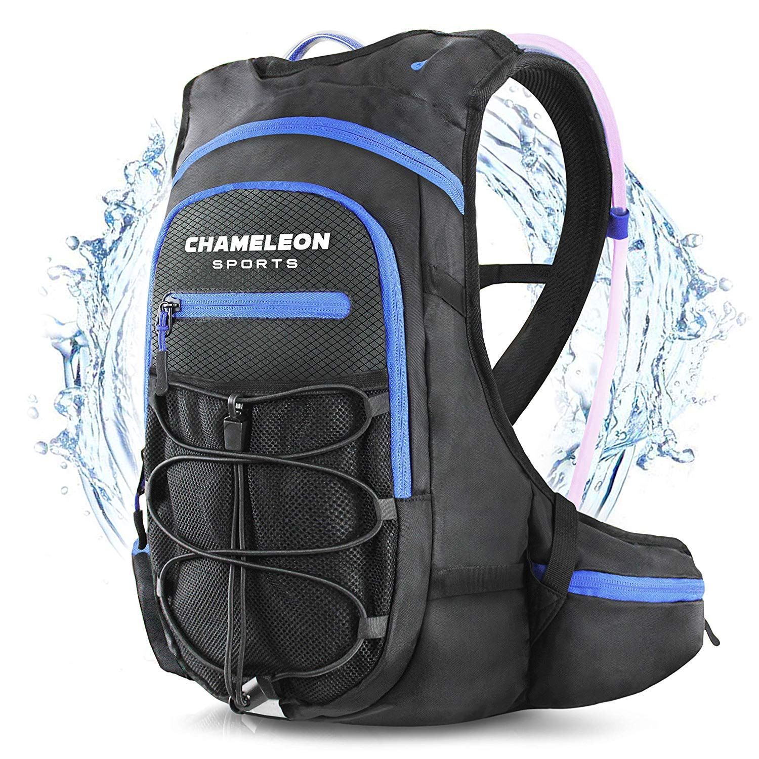 Chameleon Sports Hydration Backpack Lightweight Day Pack for Trail Running, Cycling, Biking, Hiking and Climbing - 2L Water Bladder Included