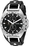 Fossil Men's CH3003 Breaker All-Terrain Chronograph Leather Watch - Black