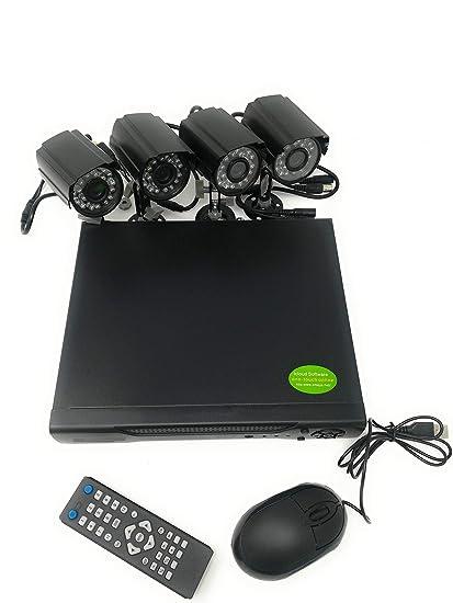 CCTV - Sistema de cámaras de video vigilancia (4 cámaras con infrarrojos, grabación digital