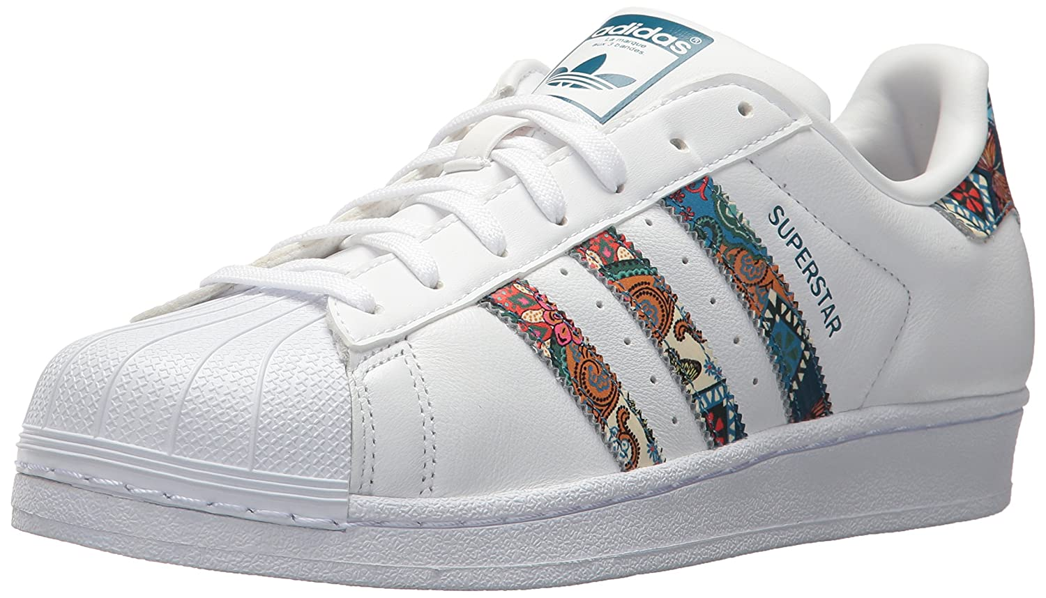 adidas Women's Originals Superstar B01N4G98OV 5.5 B(M) US|White/White/Noble Teal