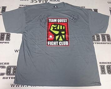 Dan Henderson & Chael Sonnen Signed Team Quest MMA Shirt COA UFC ...