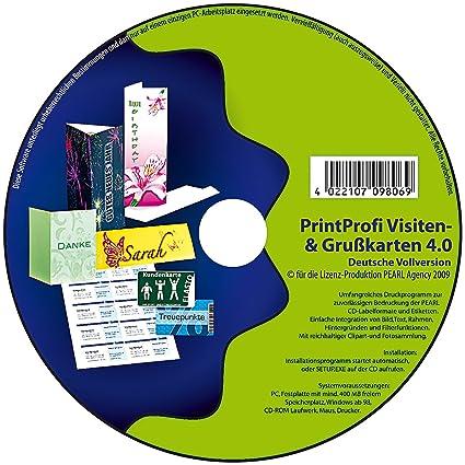 Print Profi 4 0 Druck Software Für Gruß Visitenkarten