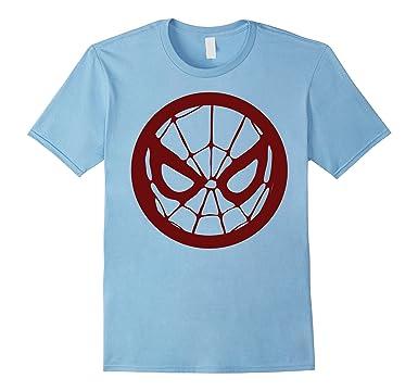 amazon com marvel spider man face logo red tonal graphic t shirt rh amazon com Logo Star Wars T-Shirts Logo Star Wars T-Shirts