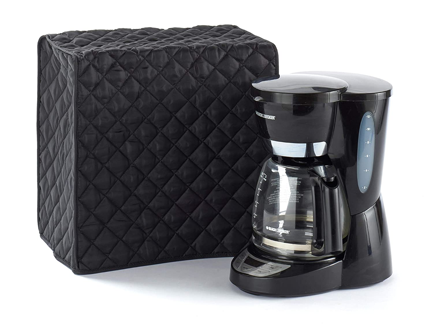 Covermates – Coffee Maker Cover – 11W x 9D x 15H – Diamond Collection – 2 YR Warranty – Year Around Protection - Black