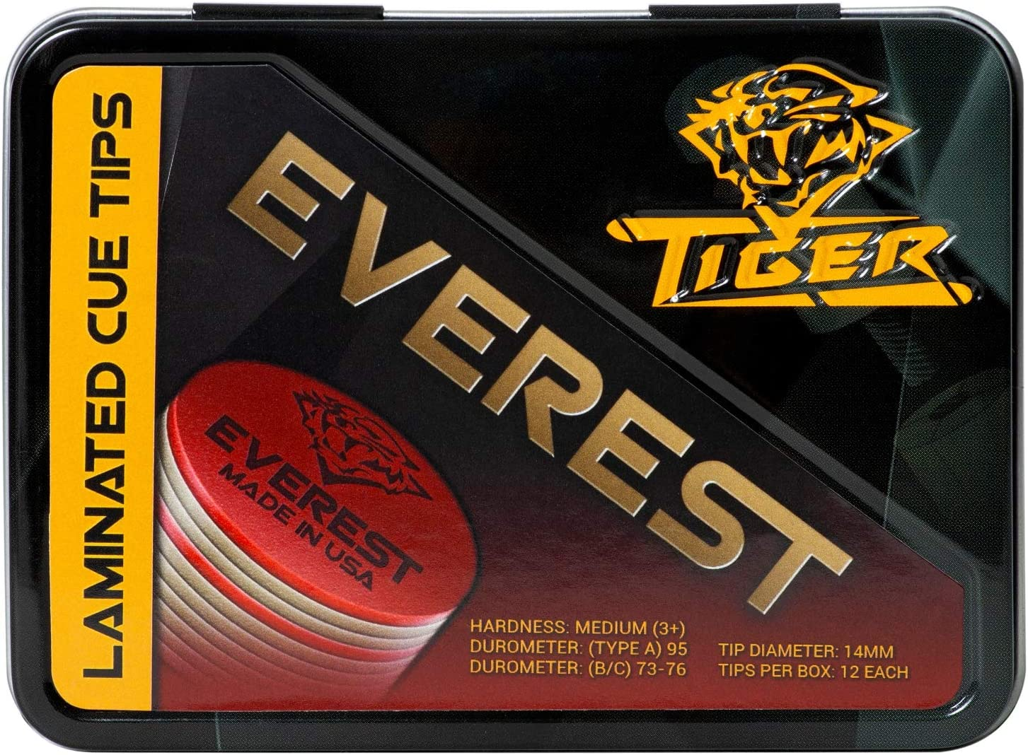 Tiger Everest Laminated Pool Cue Tips Tiger QTY 3 FREE SHIPPING 002001