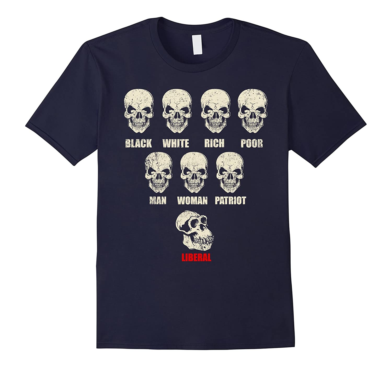 Black White Rich Poor Man Woman Patriot Liberal T Shirts-CD