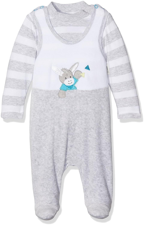 Sterntaler Unisex Baby Strampler-Set Nicki Erik, Weiß Weiß 5601731