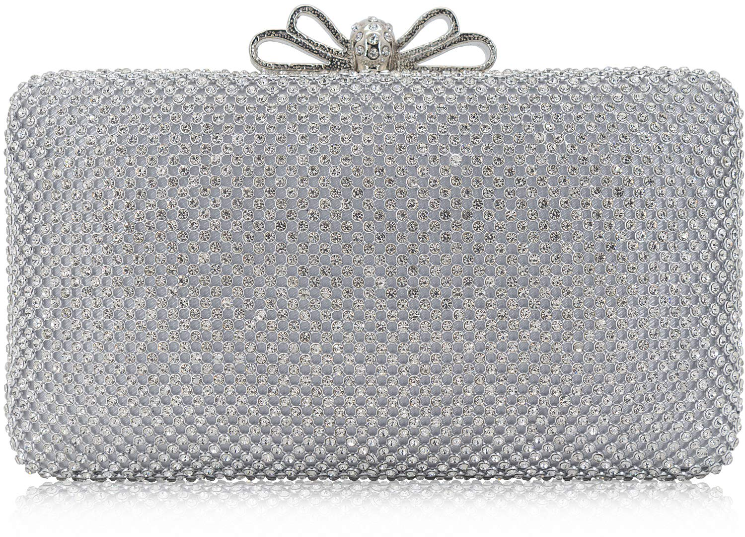 300ce097 Dexmay Bling Rhinestone Crystal Clutch Purse Bow Clasp Women Evening Bag  for Bridesmaid Wedding Party product