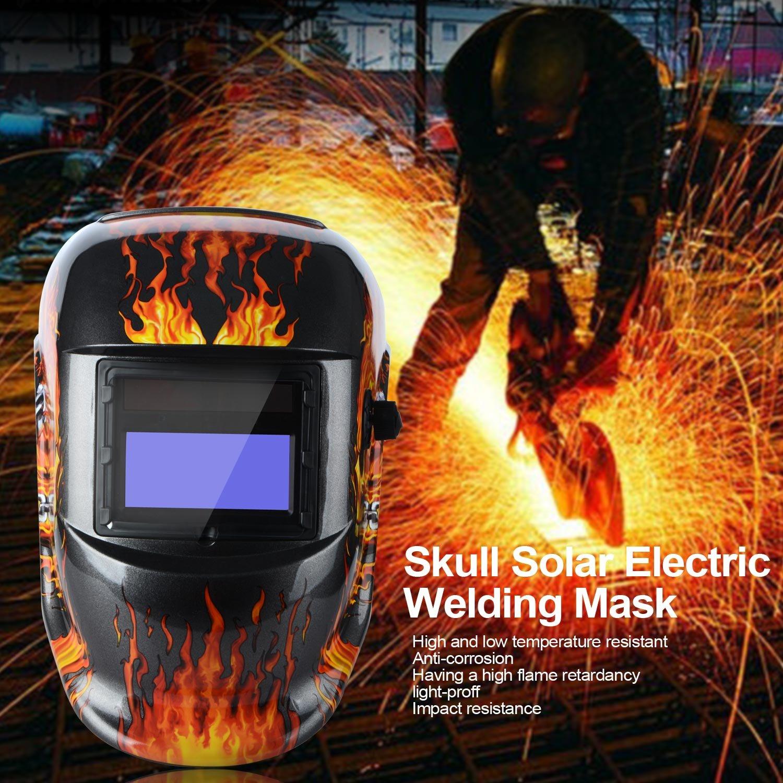 Casco de soldar solar con oscurecimiento automático máscara de soldadura nueva DIN9 - 13: Amazon.es: Bricolaje y herramientas