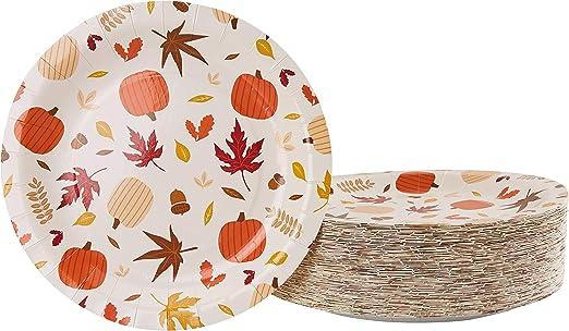Amazon.com: Platos desechables – 80 platos de papel ...