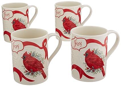 Amazon lenox winter greetings carved mugs set of 4 ivory lenox winter greetings carved mugs set of 4 ivory m4hsunfo