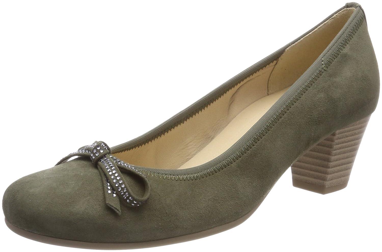 Gabor Shoes Gabor Basic, Zapatos de Tacón para Mujer 41 EU|Verde (Oliv)